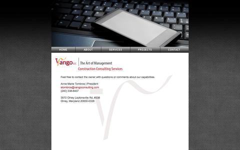 Screenshot of Contact Page vangoconsulting.com - Vango LLC - Construction Consulting Services - captured Oct. 9, 2014