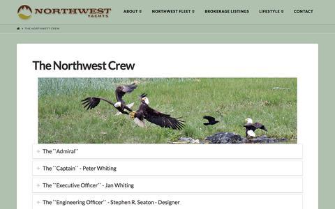 Screenshot of Team Page northwestyachts.com - Northwest Yachts Crew - captured Nov. 3, 2019