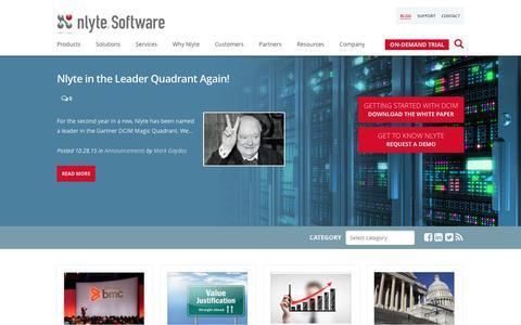 Screenshot of Blog nlyte.com - Nlyte DCIM Blog | Nlyte Software - captured Dec. 3, 2015