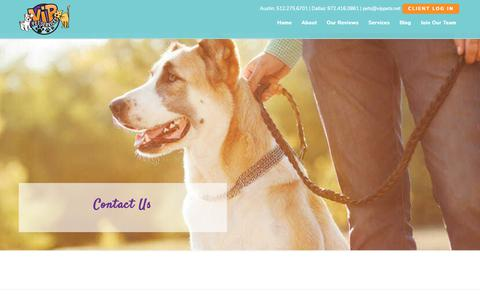 Screenshot of Contact Page vippets.net - Contact Us | VIP Pet Services - captured Nov. 18, 2018