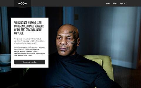 Screenshot of Trial Page workingnotworking.com - Working Not Working - captured Jan. 15, 2016