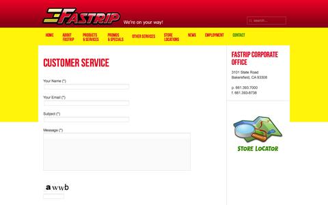 Screenshot of Support Page fastrip.com - Products - captured Oct. 3, 2014