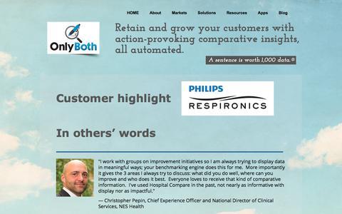Screenshot of Testimonials Page onlyboth.com - OnlyBoth Benchmarking Engine | Testimonials - captured Oct. 20, 2017
