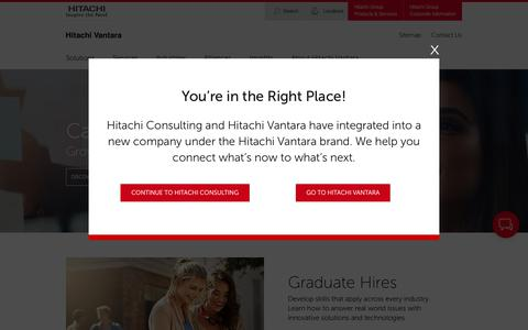 Screenshot of Jobs Page hitachiconsulting.com - Careers | Hitachi Consulting - captured Jan. 6, 2020