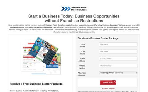 Screenshot of Landing Page drss-business.com - Small Business and Franchise Opportunities - captured Oct. 27, 2014