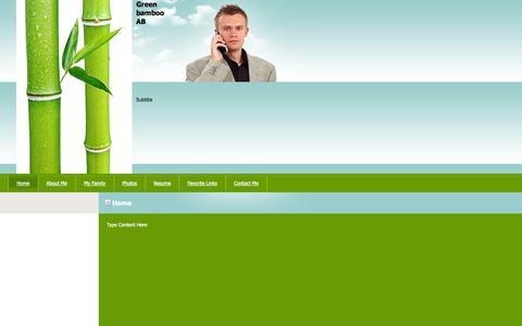 Screenshot of Home Page greenbamboo.se - Green bamboo AB - Home - captured Oct. 3, 2014