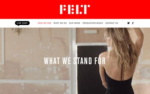 Screenshot of About Page feltmusic.com - Felt Music - captured Nov. 6, 2018
