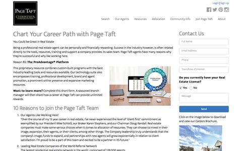 Screenshot of Jobs Page pagetaft.com - Real Estate Career | Work with Connecticut's Best Real Estate Company - captured June 19, 2018