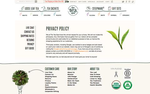 Privacy Policy | TEA SPOT