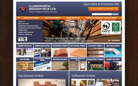 Screenshot of Home Page manchestertimbermerchants.co.uk - Timber, Softwood Timber & Hardwood Timbers Manchester - Illingworth Ingham Ltd - captured Oct. 6, 2014