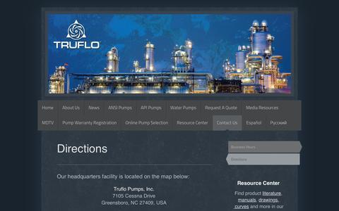 Screenshot of Maps & Directions Page truflo.com - TRUFLO - Directions - captured Dec. 20, 2016