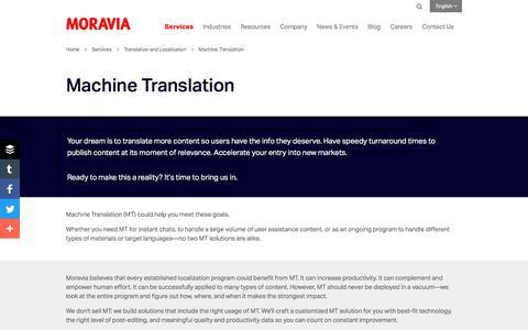 Machine Translation - Moravia