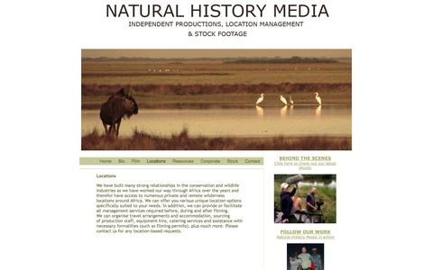 Screenshot of Locations Page naturalhistorymedia.com - naturalhistorymedia.com - captured Oct. 27, 2014