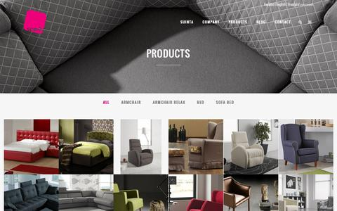 Screenshot of Products Page suinta.com - Suinta sofás |   Products - captured Nov. 5, 2014