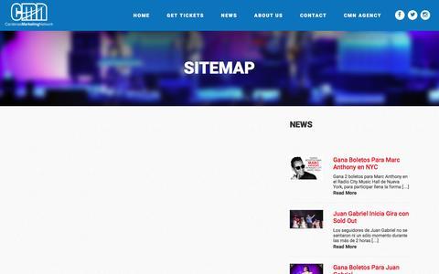 Screenshot of Site Map Page cmnevents.com - Sitemap | CMN Events - captured Aug. 27, 2016
