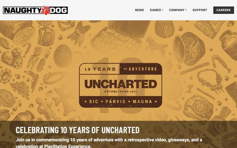 Screenshot of Home Page naughtydog.com - Naughty Dog | Naughty Dog - captured Sept. 21, 2018