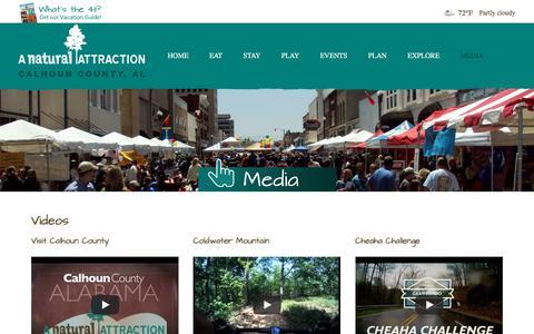 Screenshot of Press Page visitcalhouncounty.com - Media - Visit Calhoun County - captured Feb. 21, 2018