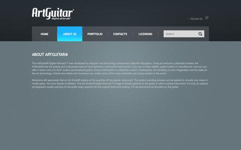 Screenshot of About Page artguitar.com - About ArtGuitar® - captured Oct. 1, 2014