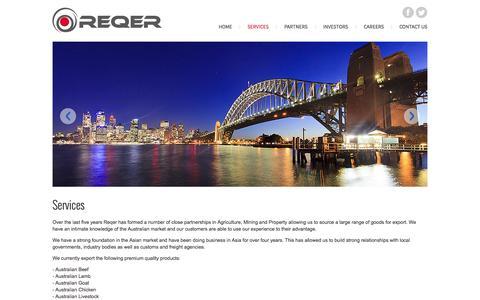 Screenshot of Services Page reqer.com - Services - Reqer - captured Oct. 27, 2014
