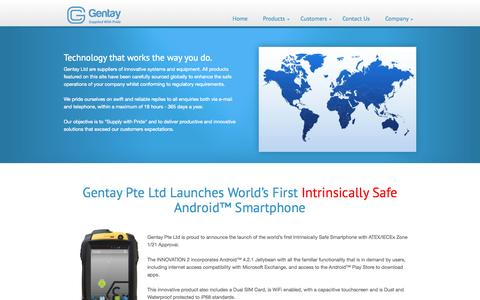 Screenshot of Home Page gentay.co.uk - Gentay - Innovative Enterprise Products and Systems - captured Oct. 2, 2014