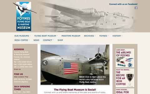 Screenshot of Home Page flyingboatmuseum.com - Flying Boat Museum   Home - captured Oct. 6, 2014