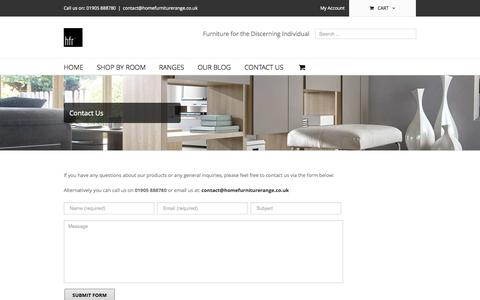 Screenshot of Contact Page homefurniturerange.co.uk - Contact Us - Home Furniture Range - captured Sept. 30, 2014