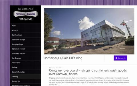 Screenshot of Blog containers4saleuk.com - Blog - Shipping Containers For Sale | Storage Containers For Sale & Hire - captured Jan. 31, 2016