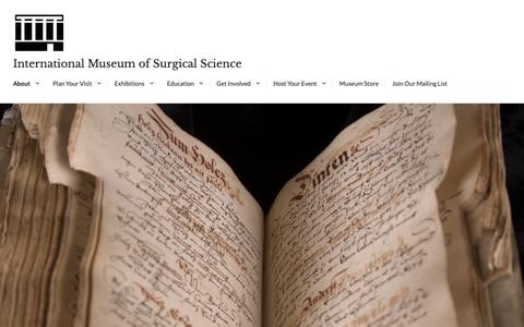 Screenshot of Press Page imss.org - Press – International Museum of Surgical Science - captured Oct. 12, 2018
