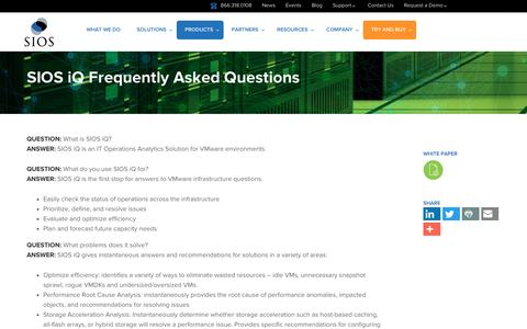 Screenshot of FAQ Page sios.com - FAQ - captured Nov. 18, 2016