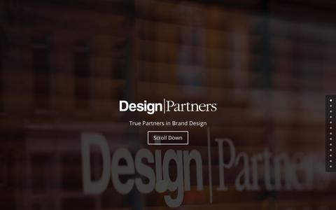 Screenshot of Home Page design-partners.com - Design Partners - captured Oct. 8, 2018