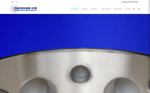 Screenshot of Home Page tigfusion.com - Tigfusion | - captured Oct. 7, 2014