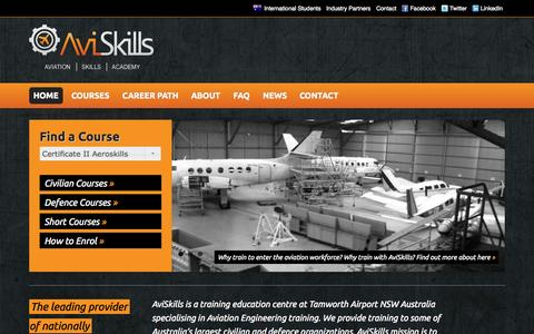 Screenshot of Home Page aviskills.com.au - AviSkills - captured Oct. 4, 2014
