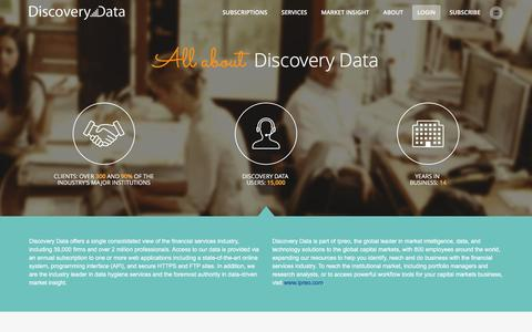 Screenshot of About Page discoveryco.com - About Us | Discovery Data - captured Feb. 9, 2016