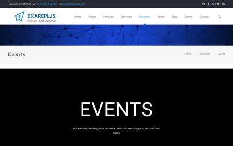 Events - Exarcplus Mobile Apps Pvt Ltd.