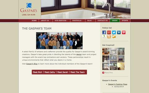 Screenshot of Team Page gaspars.com - Seattle Remodeling Team | Gaspars Construction - captured Oct. 2, 2014