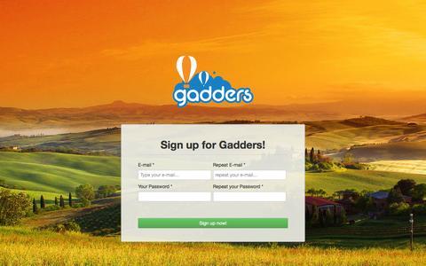 Screenshot of Signup Page gadders.eu - Gadders - Guest - captured Oct. 27, 2014
