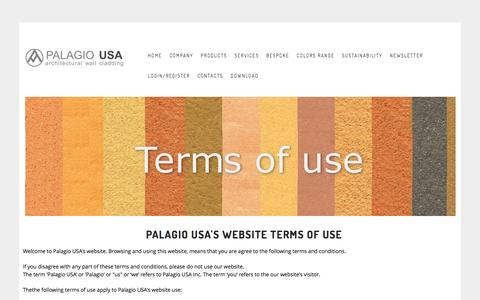 Screenshot of Terms Page palagiousa.com - TERMS OF USE - captured Oct. 19, 2016