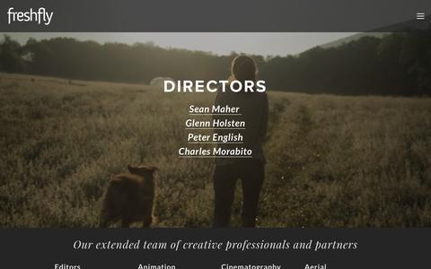 Screenshot of Team Page freshfly.net - Creative Team — FreshFly - captured Aug. 29, 2018