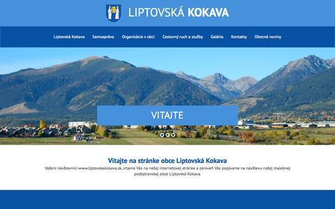 Screenshot of Home Page liptovskakokava.sk - Liptovská Kokava - captured Oct. 17, 2015