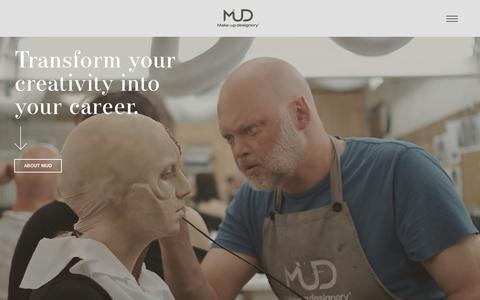 Screenshot of Home Page mud.edu - Make-up Designory – MUD Studio Make-up Artist Training - captured Dec. 17, 2018