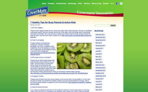Screenshot of Press Page covermatecovers.com - CoverMate Food Covers - captured Sept. 13, 2014