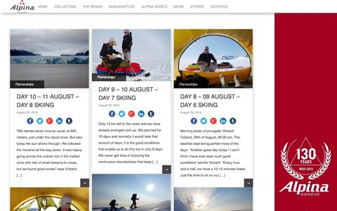 Screenshot of Blog alpina-watches.com - Alpina Watches Blog | - captured Sept. 22, 2014