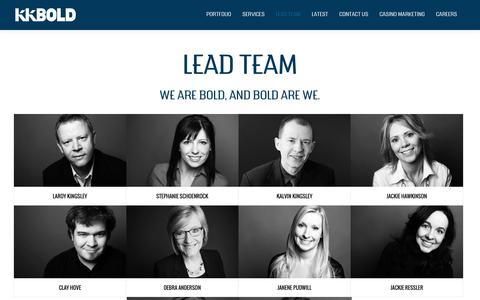 Screenshot of Team Page kkbold.com - Lead Team  »  KK BOLD » A Brand-Building Agency - captured Aug. 8, 2016