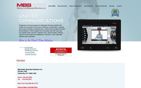 Screenshot of Contact Page mbsnetworks.com - Contact - Manhattan Business Systems, Inc. - captured Nov. 19, 2016