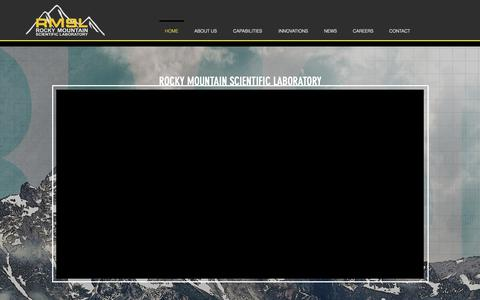 Screenshot of Home Page rmsl.net - Testing, R&D | United States | RMSL - captured Oct. 19, 2018