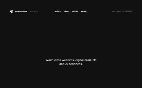 Hello World - Alchemy Digital