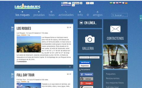 Screenshot of Home Page los-roques.org - Los Roques la Comunidad | Los Roques la Comunidad - captured Sept. 30, 2014