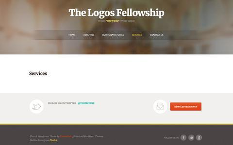 Screenshot of Services Page thelogosfellowship.org - Services - Logos International Training Centers - captured Nov. 7, 2018