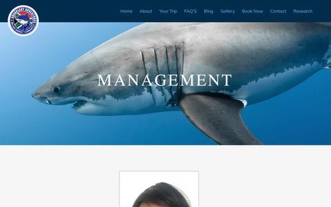 Screenshot of Team Page sharklady.co.za - Management - Sharklady Adventures - captured Oct. 19, 2018