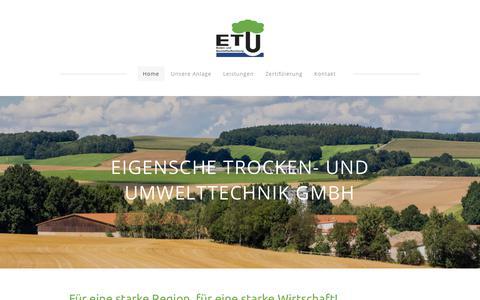 Screenshot of Home Page boden-bauschutt.com - ETU GmbH - Home - captured April 26, 2018